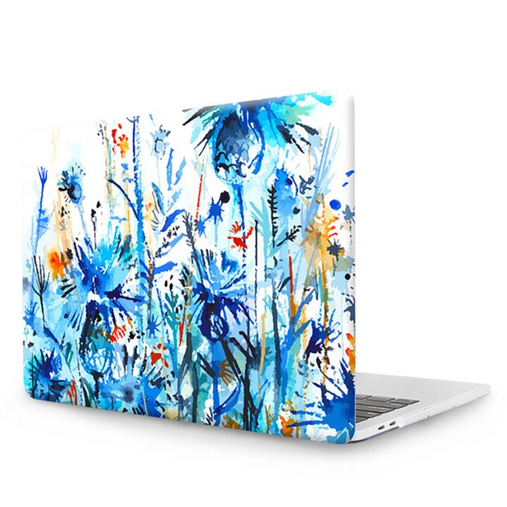 """EG MTT Laptop Abdeckung mit Tastaturabdeckung, Anti-Staubschutz, Kugelschreiber für MacBook Pro 13"""" Touch Bar - Blaue Blumen"""