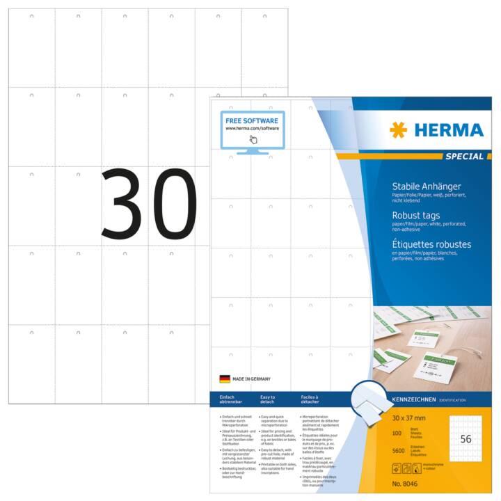 HERMA Pendentif robuste A4 35x59,4 mm 3000 pièces