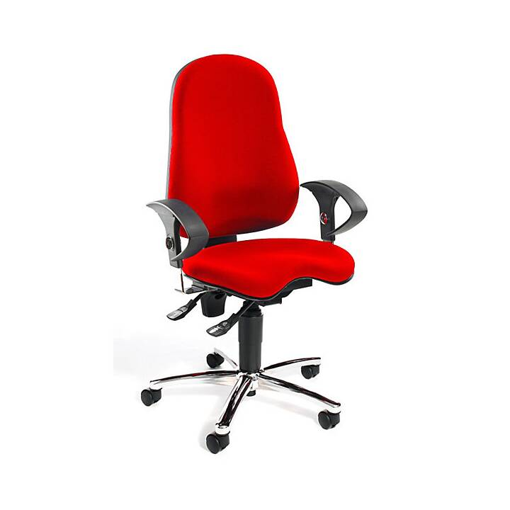 TOPSTAR Sitness 10 Chaise opérateur (Rouge, Noir)