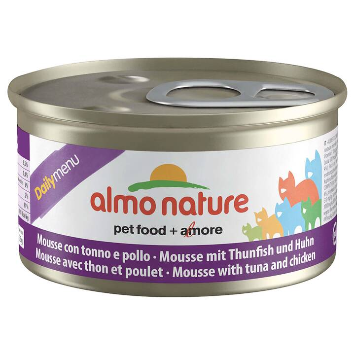 ALMO NATURE Daily Mousse (Adulto, 85 g, Pollo, Tonno)