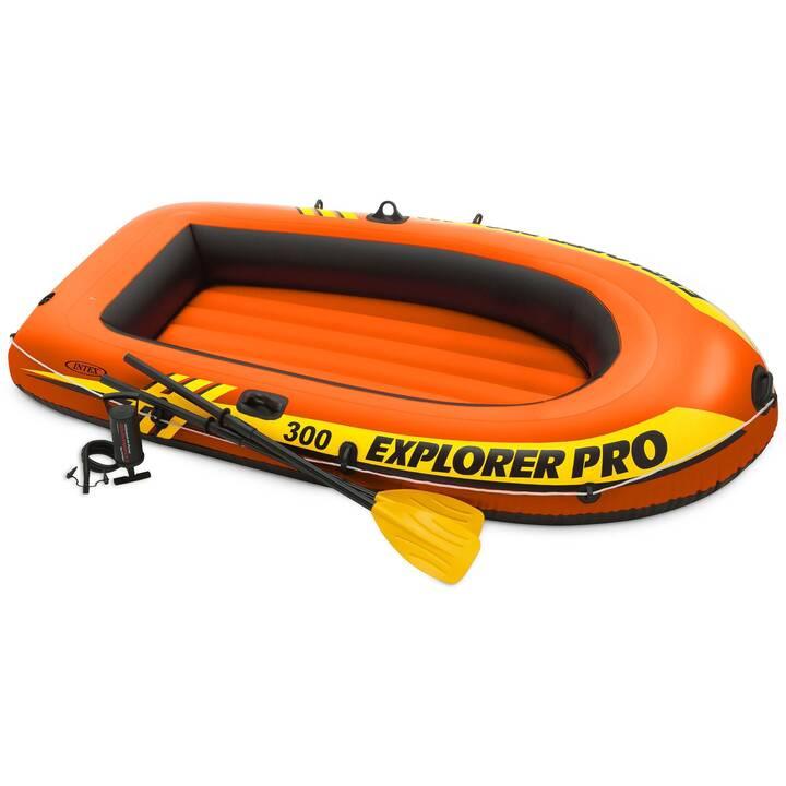 INTEX Schlauchboot Explorer TM Pro 300 Boat Set (244 cm, 3 Personen)