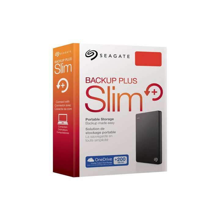 SEAGATE Backup Plus Slim (USB 3.0, 6 TB, Nero)