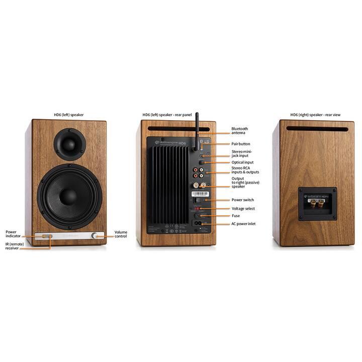 AUDIOENGINE HD6 (50 W, Diffusori da scaffale, Marrone)