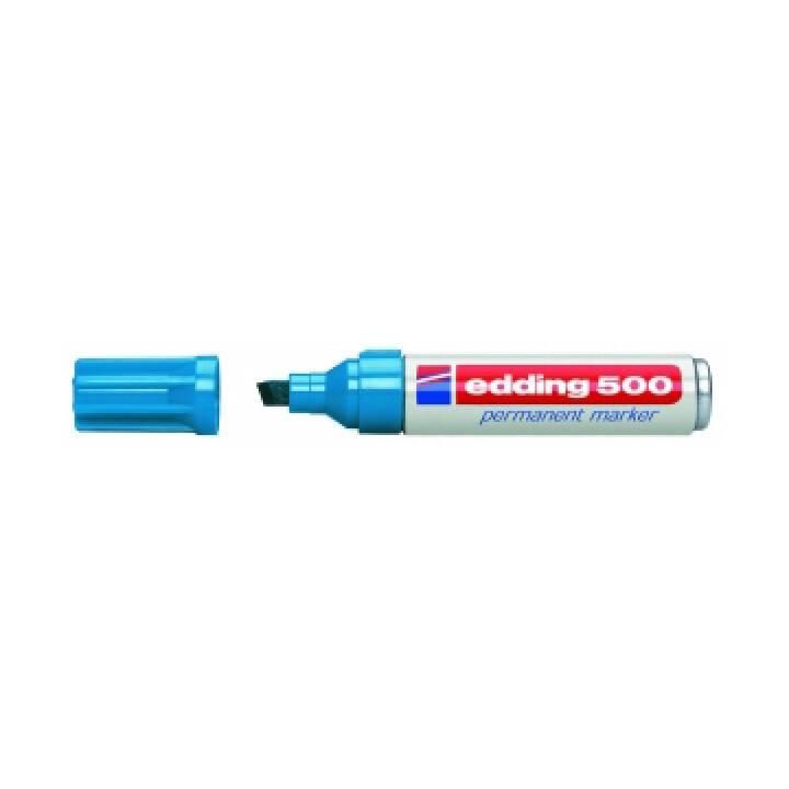 EDDING Marqueur permanent 500 (Bleu, 1 pièce)