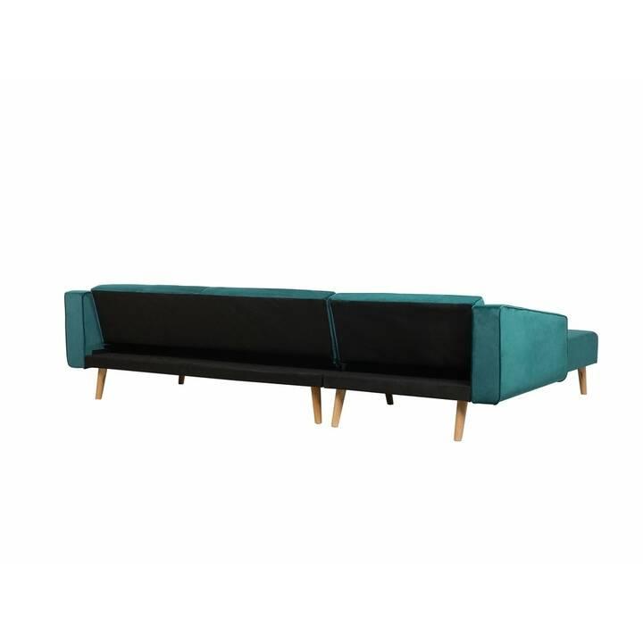 BELIANI Vadso Divano ad angolo (Poliestere, Verde, 303 cm x 72 cm)