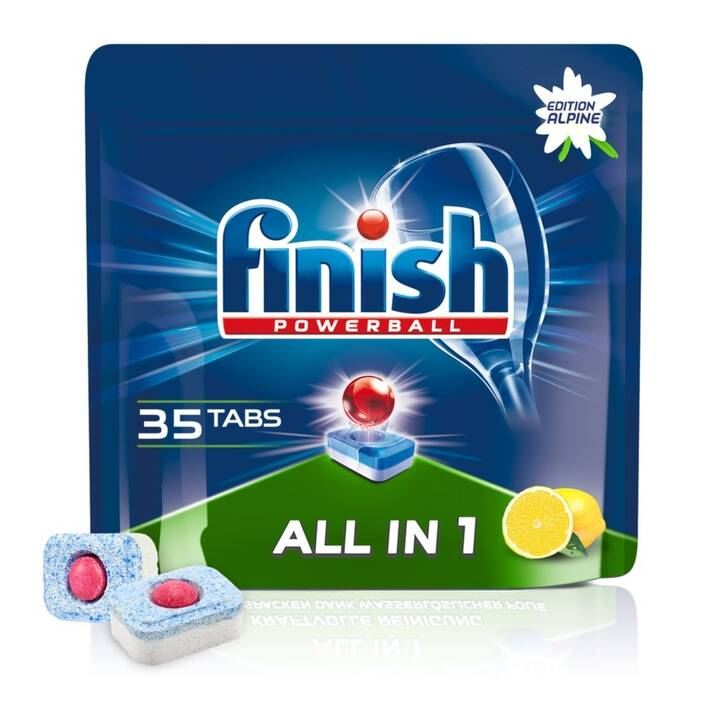 FINISH Détergents pour lave-vaisselle All-in-1 Citron (35 pièce, Tabs)