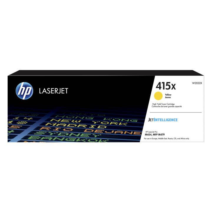HP 415X (Cartouche individuelle, Jaune)