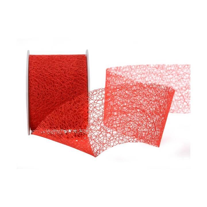 SPYK Geschenkband (7 cm x 1000 cm, Rot, Einfarbig)