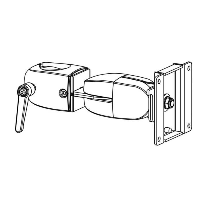 Montaggio monitor ERGOTRON DS100, doppio snodo girevole