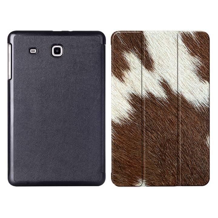"""EG MTT Tablet Tasche mit faltbarer Abdeckung für Samsung Galaxy Tab E 9.6 """"- Tierhaut"""