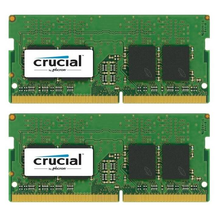 CRUCIAL CT2K8G4SFS824A (2 x, 8 Go, DDR4-2400 SDRAM, SO-DIMM 260-Pin)