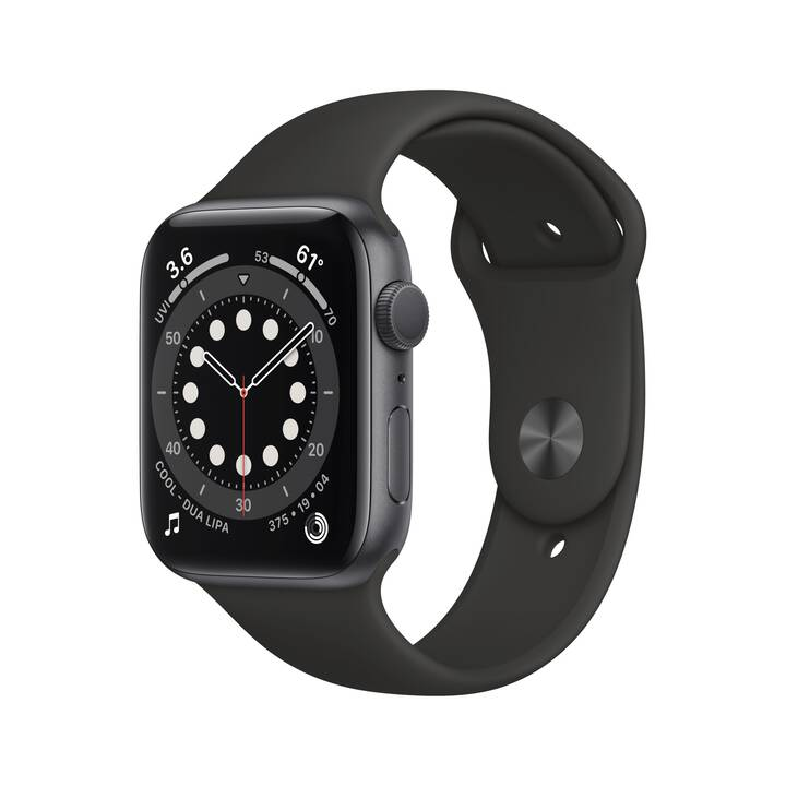 APPLE Watch Series 6 GPS (44 mm, Aluminium, Silicone)