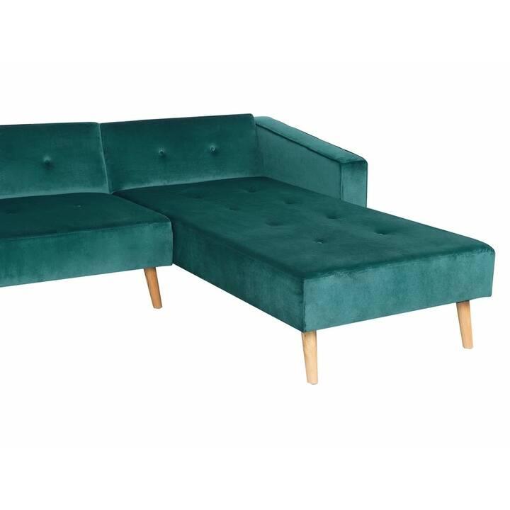 BELIANI Vadso Divano ad angolo (Poliestere, Verde scuro, 303 cm x 98 cm)