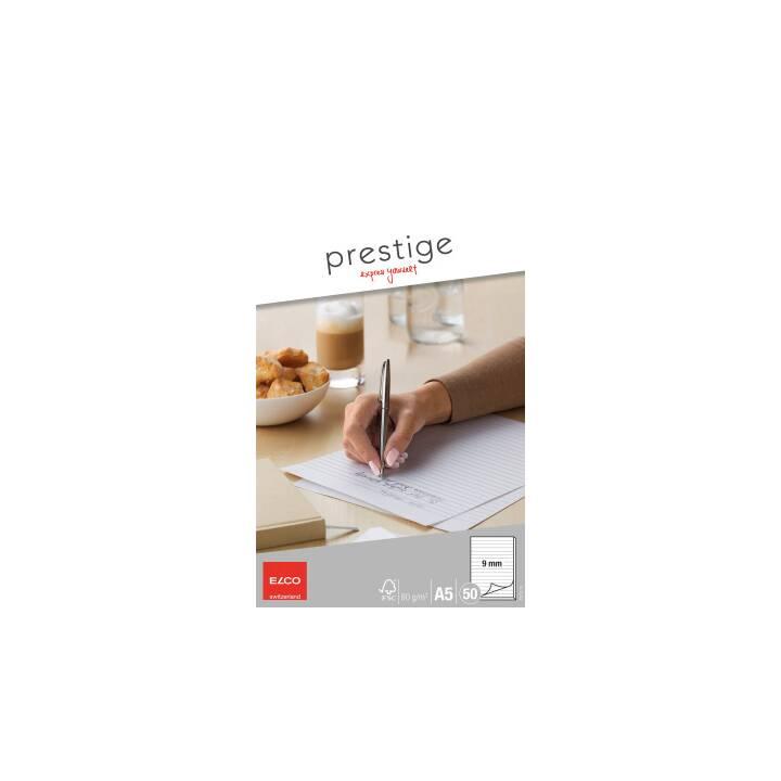 Blocco da scrittura ELCO Prestige A5 foderato, 80g 50 fogli