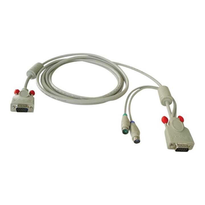 LINDY KVM-Switch Kabel (6 Pin, HD-15, 3 m)