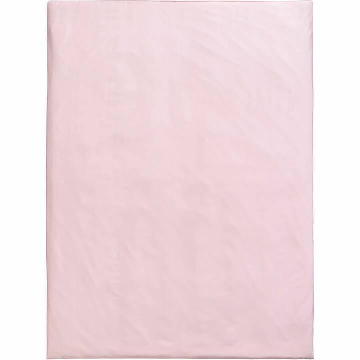 LIVIQUE Housse de couette Daphne (240 cm x 240 cm, Rose)