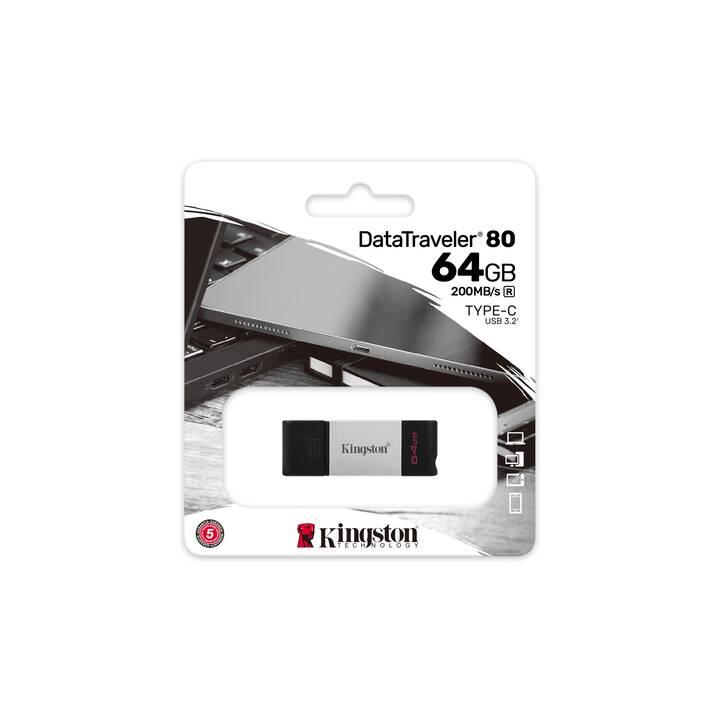 KINGSTON TECHNOLOGY DT80 (64 GB, USB 3.1 Type-C)