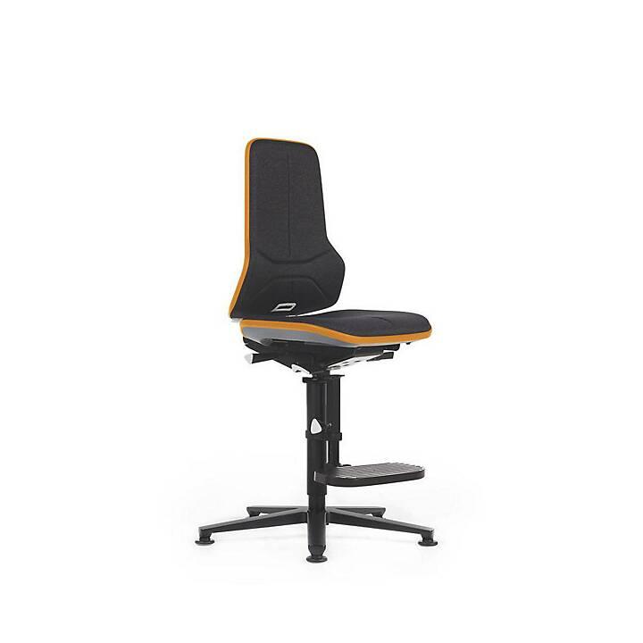 BIMOS Neon, inkl. Gleitern, Sitzhöhe 590 - 870 mm Bürostuhl (Schwarz, Orange)