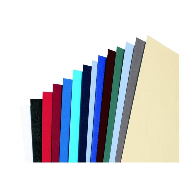 GBC LeatherGrain LeatherGrain Materiale di copertura A4, rosso scuro