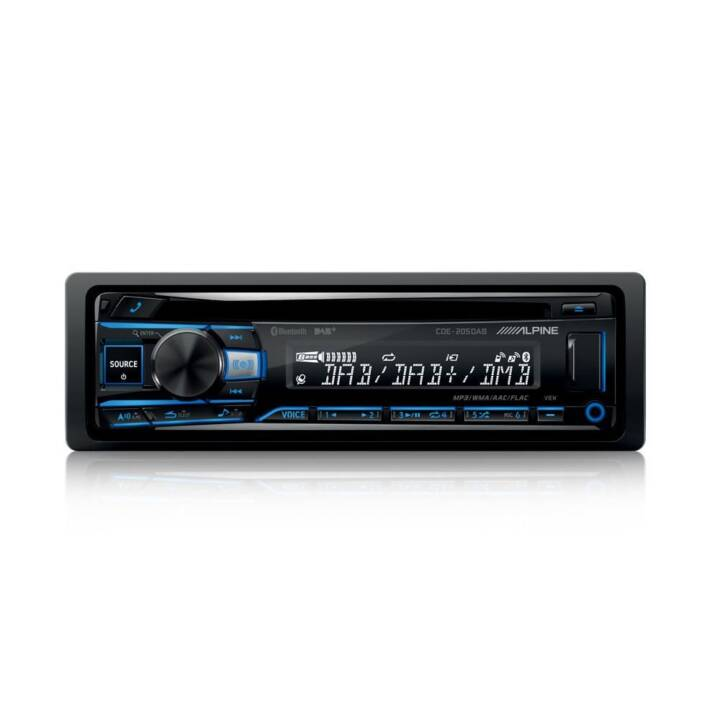 ALPINE Autoradio CDE-205DAB 1 DIN DAB+, CD, Bluetooth