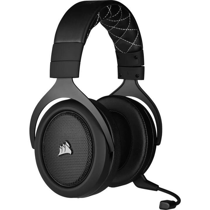 CORSAIR HS70 Pro 7.1 (Over-Ear, radio-fréquence, Carbone)