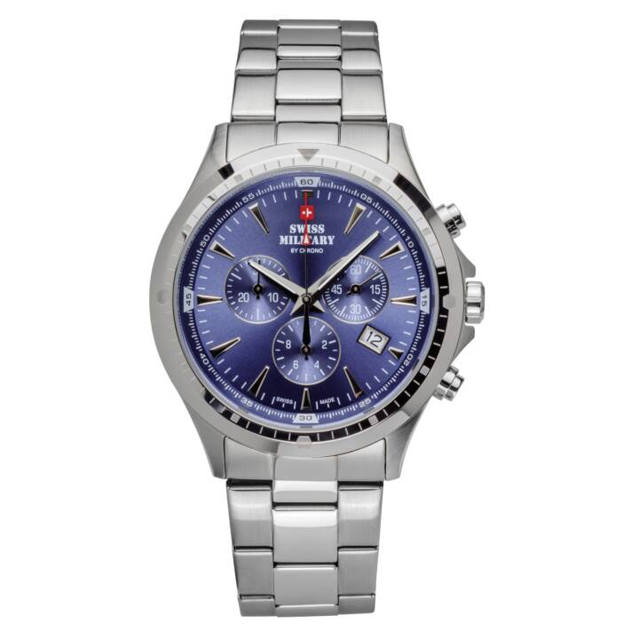 SWISS MILITARY Montre-bracelet analogique Chronographe Bleu