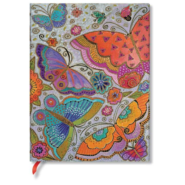 SIGEL Flexis Butterflies Ultra Notebook, 18 x 23 cm