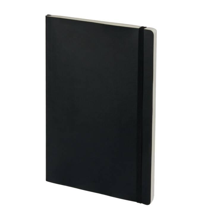 BIELLA Carnet Kompagnon à couverture souple A4, pointillé, Noir