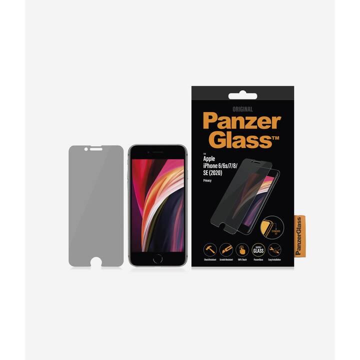 PANZERGLASS Vetro protettivo da schermo Privacy (Chiara, iPhone 6, iPhone 6s, iPhone 7, iPhone 8, iPhone SE)