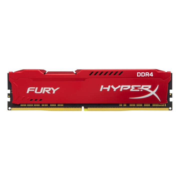 HYPERX Fury Red (1 x 8 GB, DDR4-SDRAM, DIMM 288-Pin)