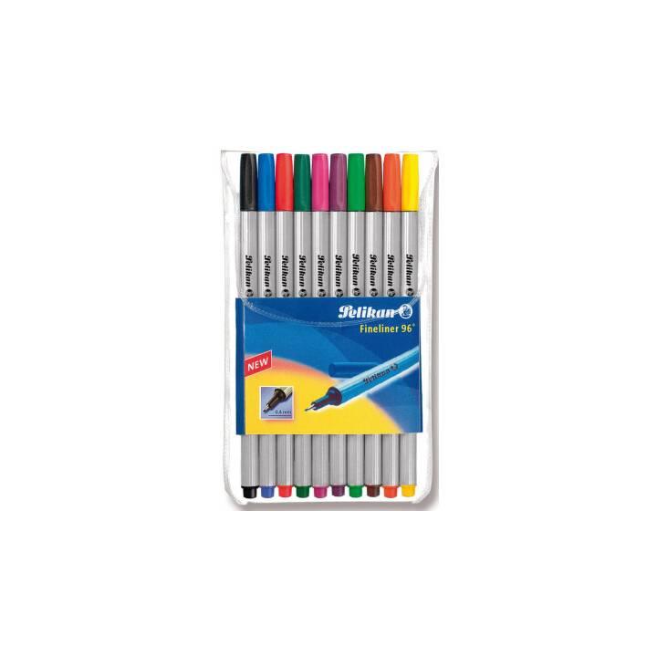 PELIKAN Fineliner 96, 0,4 mm, 10 Farben
