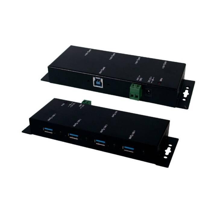 Concentrateur d'interface EXSYS, noir, 5000Mbit/s