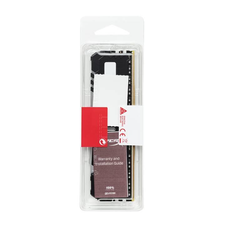 HYPERX Fury RGB (1 x 8 GB, DDR4-SDRAM, DIMM 288-Pin)