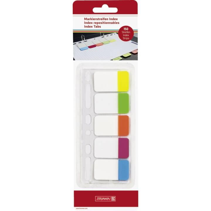 BRUNNEN Notes autocollantes (25 mm x , Jaune, Rouge, Orange, Bleu, Vert)