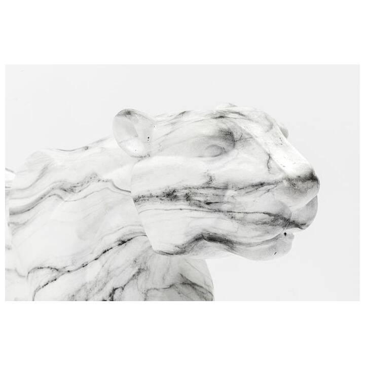 KARE Figura decorativa Leopard (Nero, Bianco)