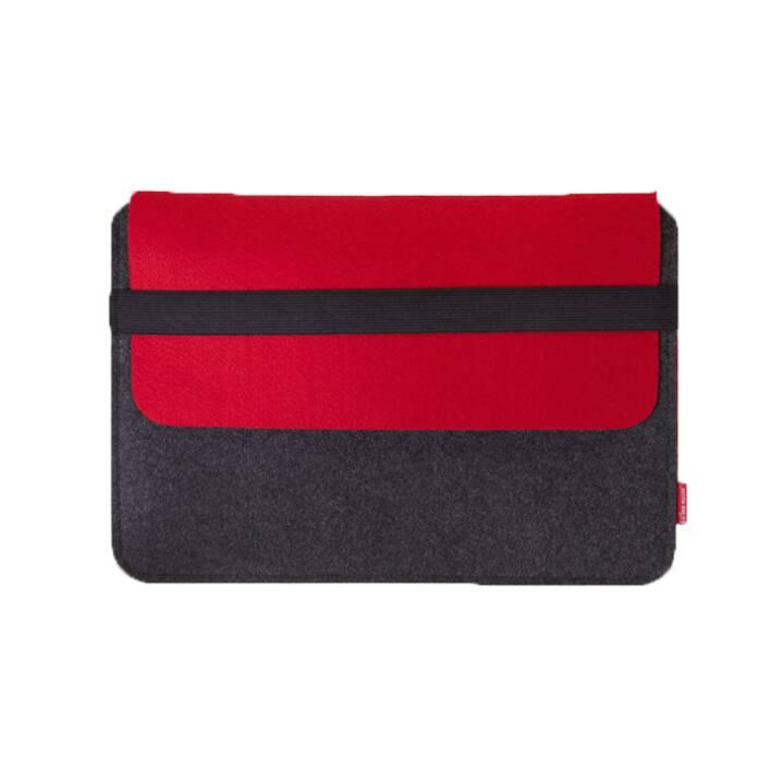 VAN MOOSE Housse pour ordinateur portable, gris, rouge