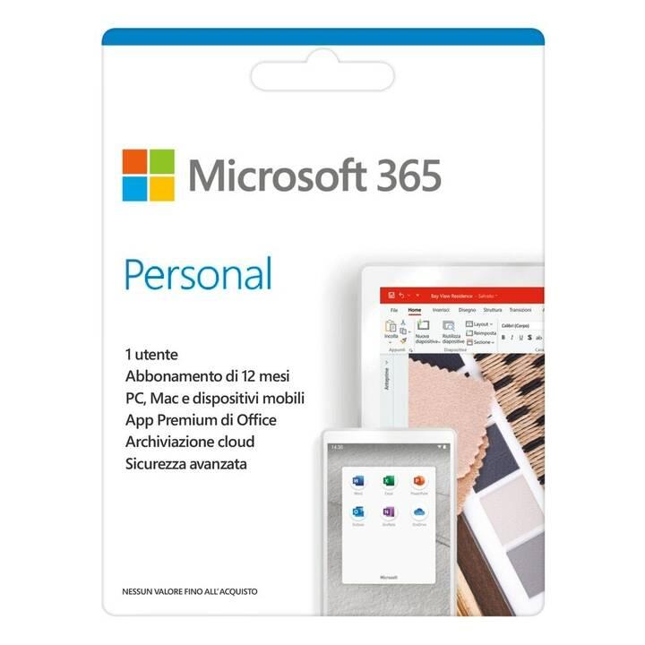 MICROSOFT 365 Personal (Abbonamento, 1x, 1 anno, Italiano)