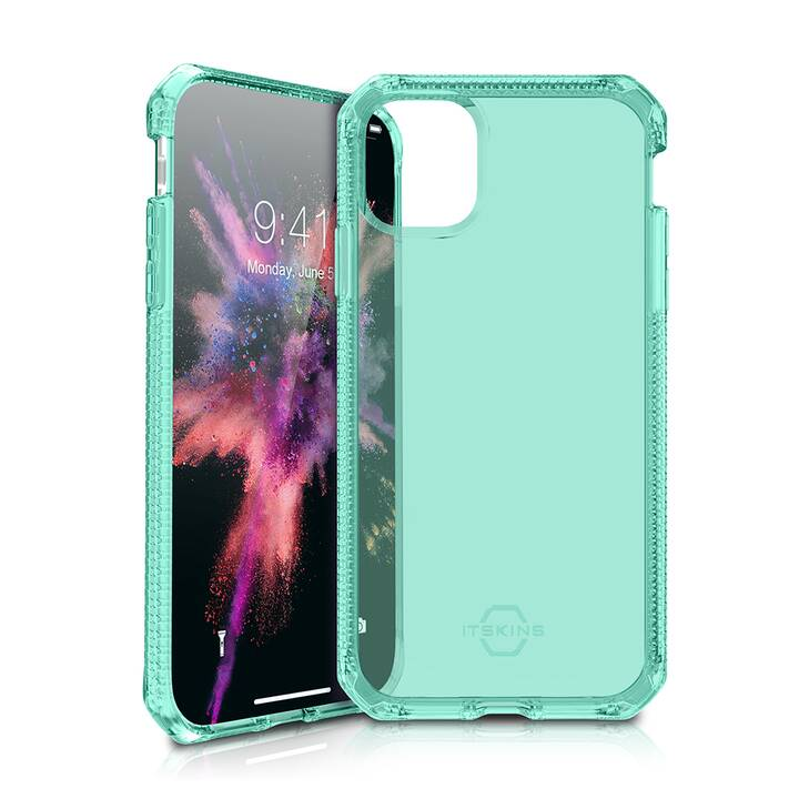 ITSKINS Butoir Spectrum Clear (iPhone 11, Vert, Transparent)