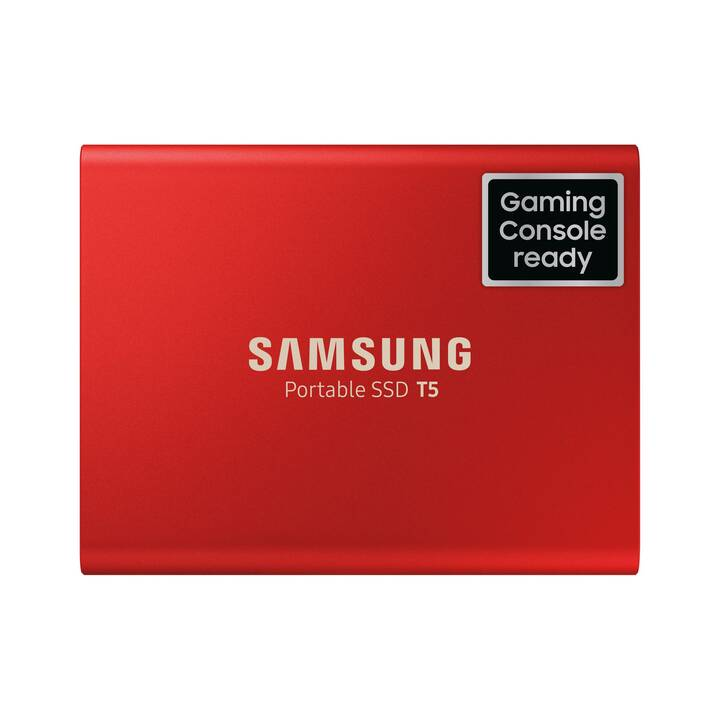 SAMSUNG Portable T5 (USB 3.1, 500 GB, Rouge)