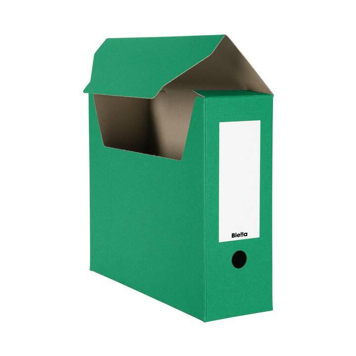 Scatola archivio BIELLA, A4, verde, 10 pz.
