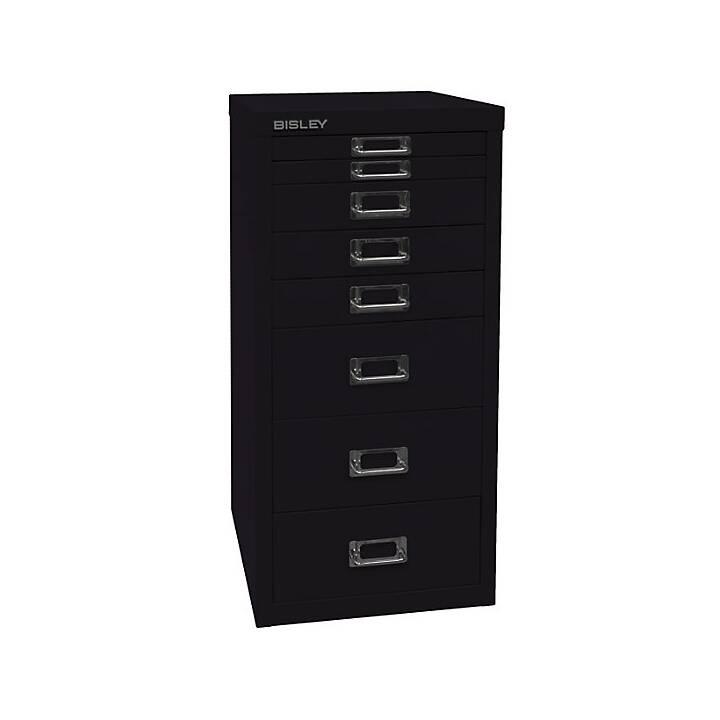BISLEY MultiDrawer Schubladenbox (A4, Schwarz)