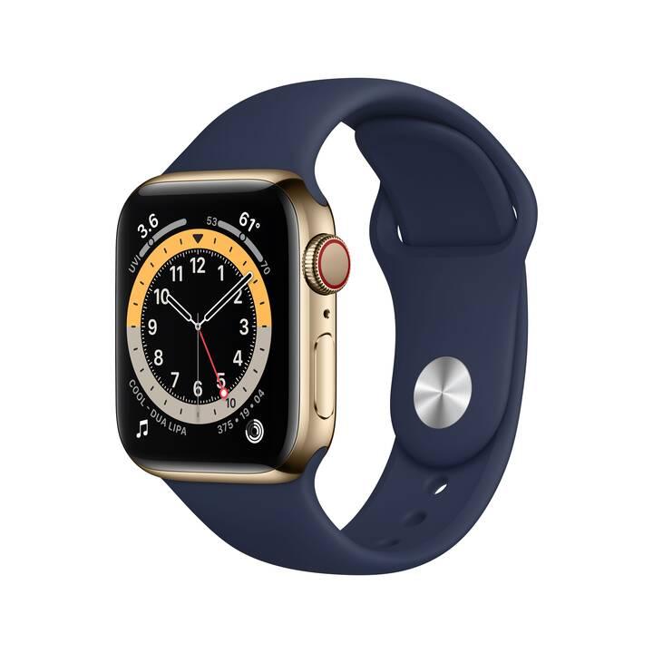 APPLE Watch Series 6 GPS + Cellular (40 mm, Acciaio Inox, GPS)