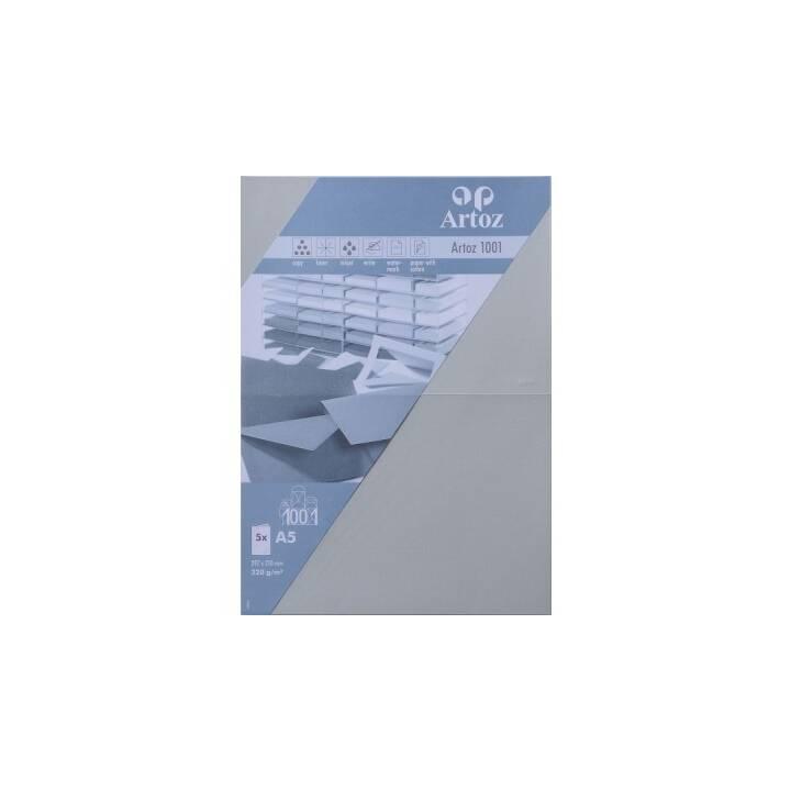 ARTOZ Biglietto in bianco (Universale, A5, Grigio chiaro)