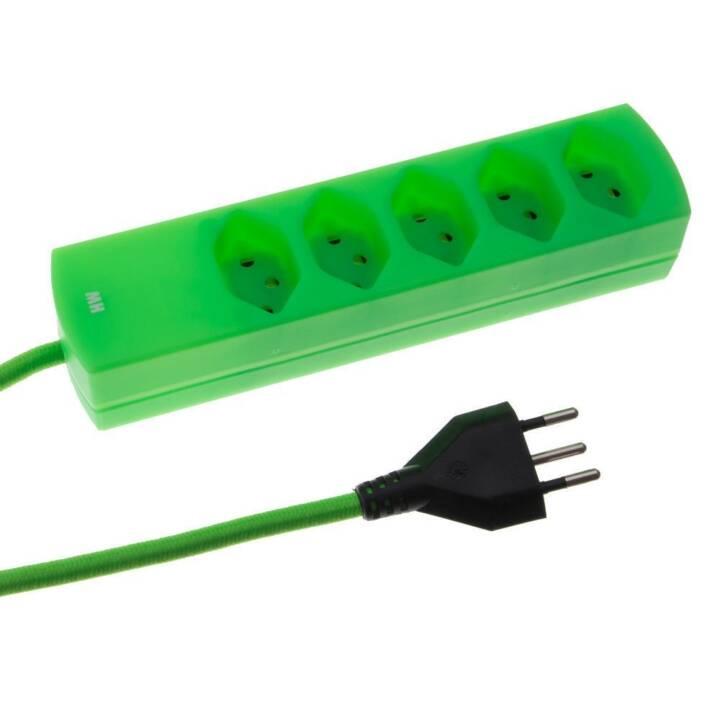 MAX HAURI Barrette d'alimentation maxTex 5xTyp13 Fluo-Green