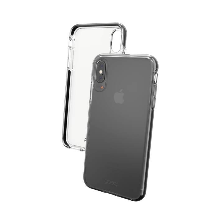 GEAR4 Cover Piccadilly per iPhone Xs Max, trasparente/nero