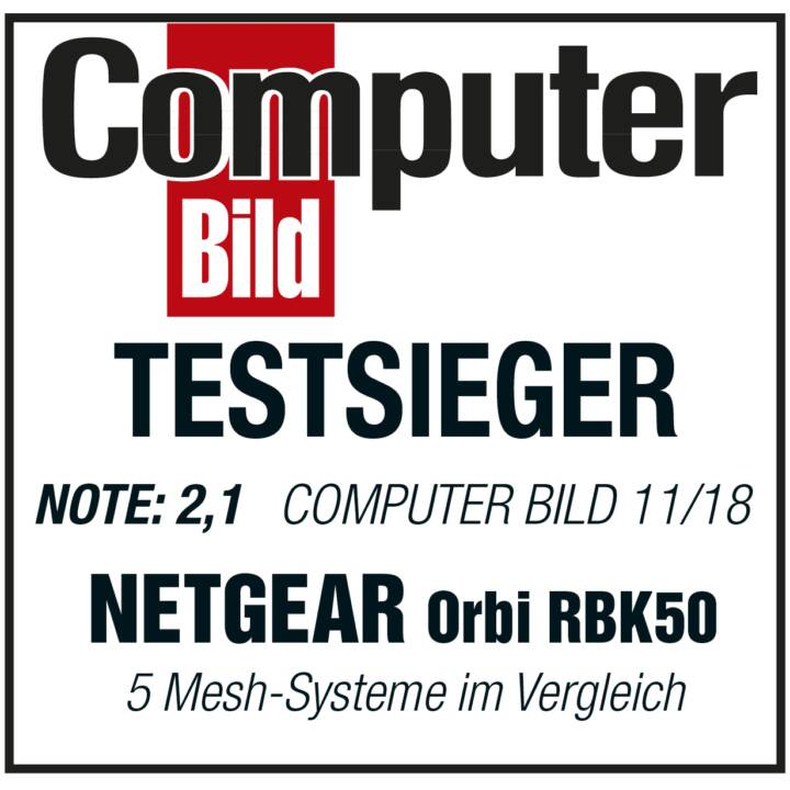 NETGEAR RBK50-100PES Orbi Tri-Band WLAN-Mesh System