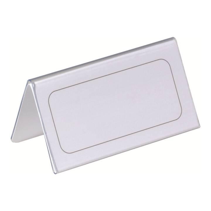 DURABLE Tischnamensschild Dachform transp. 52/104x100mm