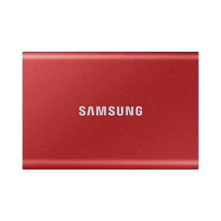 SAMSUNG Portable SSD T7 (USB Tipo C, 500 GB, Rosso)