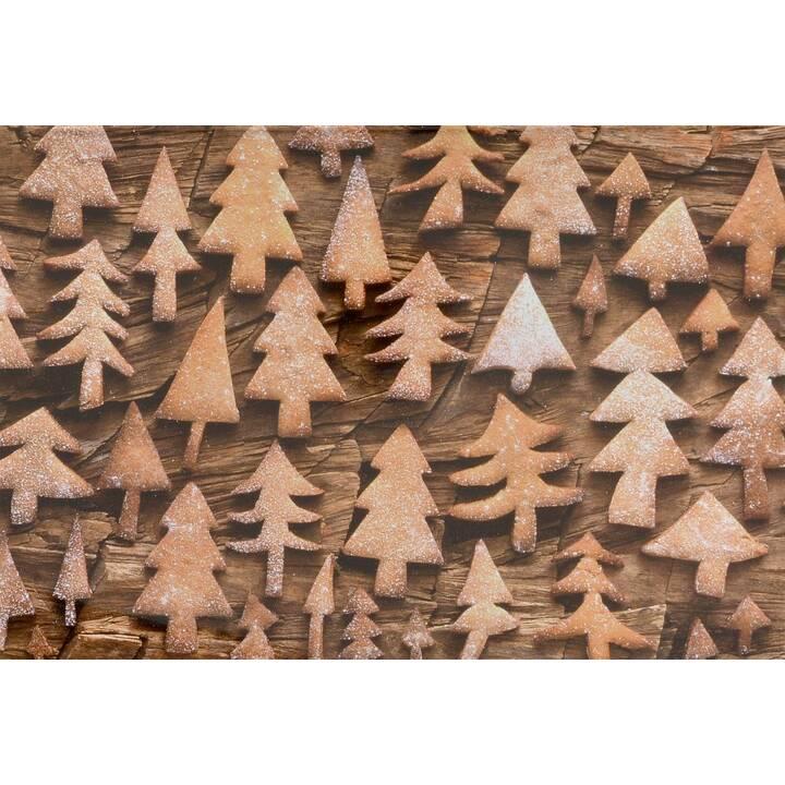 ABC Weihnachtskarte (Weihnachten / Advent, B6, Hellbraun)