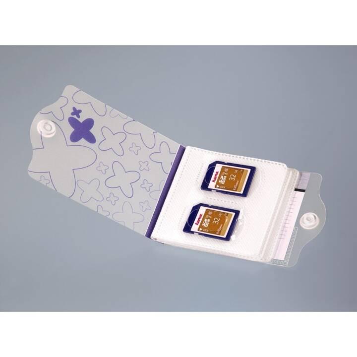 HAMA Speicherkarten Etui (Transparent, Blau)